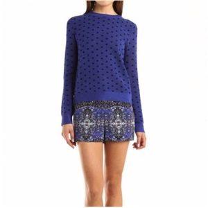 A.L.C. Dot School Girl Sweater in Blue/Black